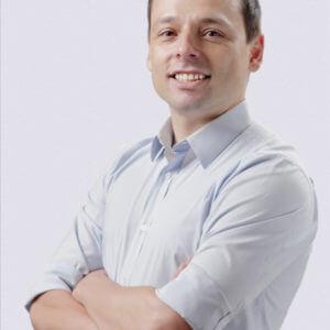 Portrait photo of michele moscaritoli, founder and ceo of velartez online art gallery