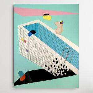 Vasil berela painting sinking pool